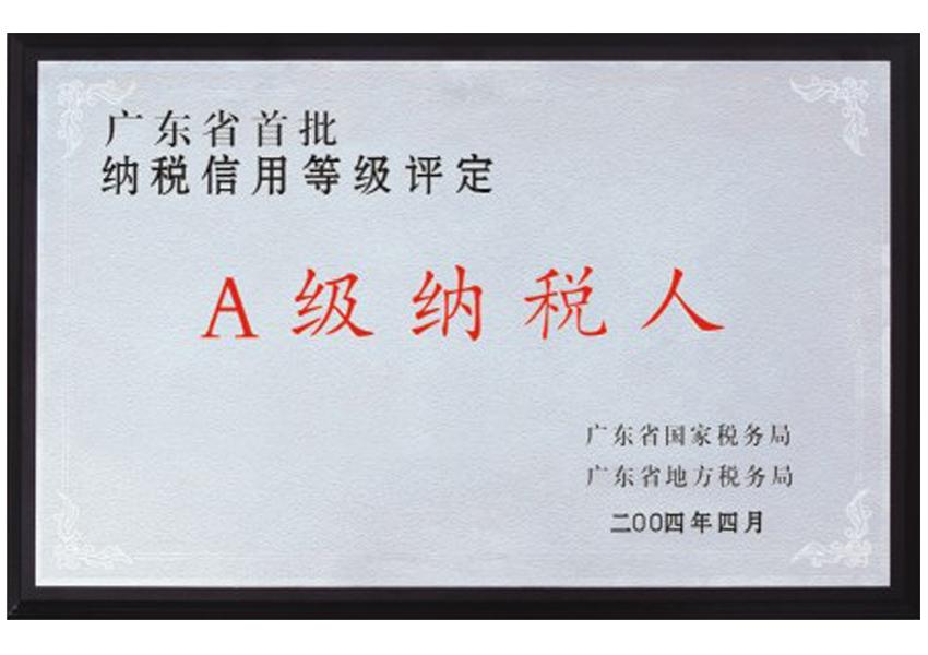 2004年首批Aji纳税人认ding证shu