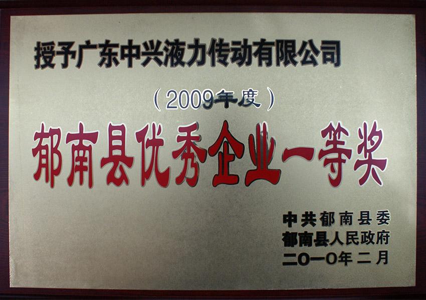 2009年度yu南xianyou秀企业一等奖