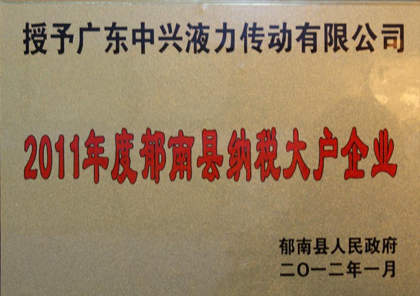 2011年du郁nanxianna税da户企ye